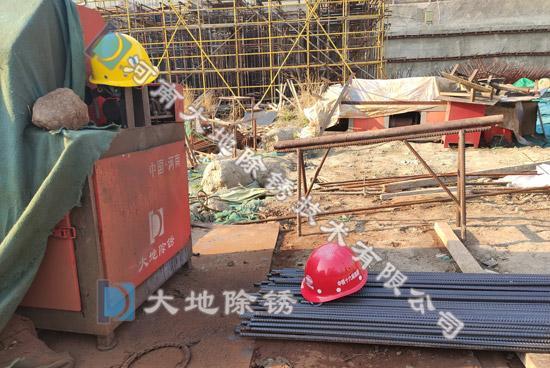 大地除锈郑州中铁十六局钢筋除锈施工项目案例