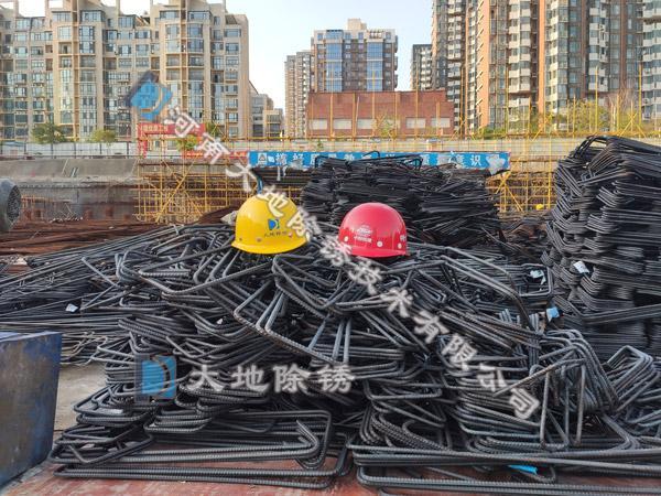 大地钢筋除锈厂家关于钢筋除锈施工方法